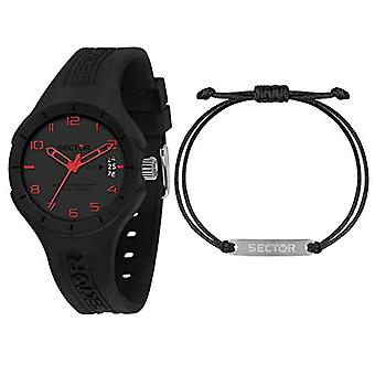 Sector No Limits Men's Watch, SPEED Collection, Quartz Movement, Time Only, 3h, Nylon and Silicone - R3251514016