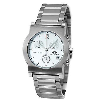 Time Force Women's Quartz Chronograph Clock with Stainless Steel Strap TF1546M-02M