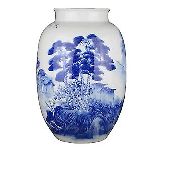 middle table vase blue and white porcelain