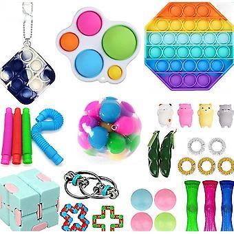 Sensory Fidget Zabawki Zestaw 30 sztuk Zabawek Odprężanie