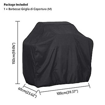 (100*60*150cm)Outdoor Black Waterproof BBQ Cover Weber Heavy Duty Grill Cover Protective