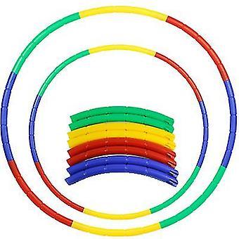 60Cm children's hula hoop 8-piece hip massage sports fitness gymnastics toys az17254