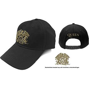 Queen - Gold Classic Crest Bonnet de baseball masculin - Noir