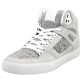 DC Shoes Pure High-top Wc Tx Se Mens Casual Trainers in Grey White
