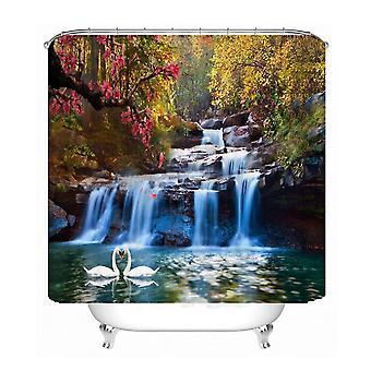 1.8X1.8m starfish pattern waterproof shower curtain polyester fabric bathroom home decor 12 hooks dt685