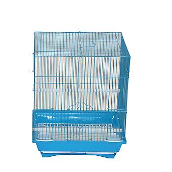 "Yml A1124Mblu Flat Top Small Parakeet Cage, 11"" X 8.5"" X 14"""