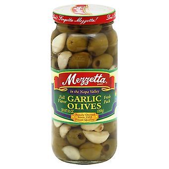 Mezzetta Olivový čerstvý cesnak, puzdro 6 X 9,5 Oz