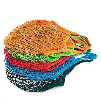 שקית רשת אחסון פירות וירקות תיק תלוי ארוג שקית קניות חלול רשת כיס לנשימה