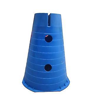 Plastic verkeerskegels, multifunctionele sportactiviteit kegels voor kinderen 2 pack (blauw)