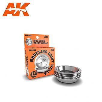 AKインタラクティブAK8206 -12シングルモデリングペイントウェル