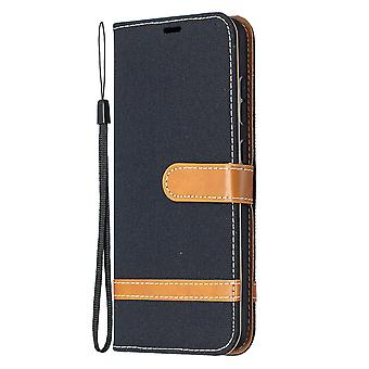 Folio Flip Cover Leather Case For Samsung Galaxy A52 4g/5g Black Jeans