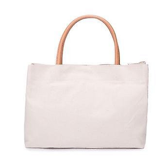 Canvas Frauen's Schultertasche tragbare Einkaufstasche wiederverwendbare Lebensmittel Tote Handtasche