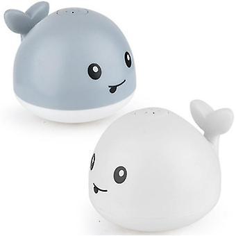 Sähköinen pieni valaan induktio vesisuihku uima vauvan kylpy lelu (harmaa)