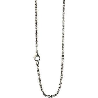 Ti2 Titanium fijne Venetiaanse Inka Chain - zilver
