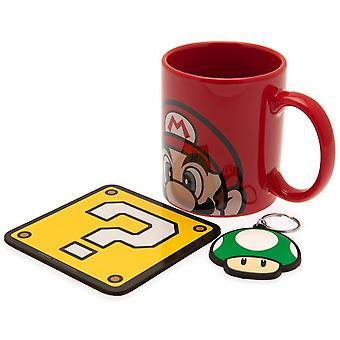 Super Mario Mario Mug and Coaster Set (Pack of 3)