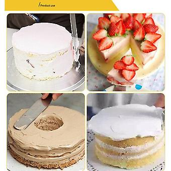 Three pieces stainless steel butter cake cream knife spatula baking tool mould spatulas set