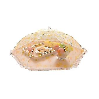 Creative Home Furnishing Lace Printing Practical Mesh Folding Umbrella Meal Cover