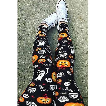 Hosiery halloween pumpkin ghost skull boo leggings