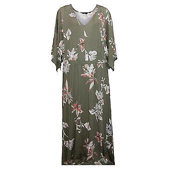 G By Giuliana Dress Plus EcoLuxe Kimono With Underslit Green 741146