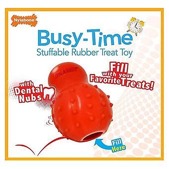 Nylabone Rhino Stuffable Dog Chew Toy - Bacon Flavor - Wolf - 1 count