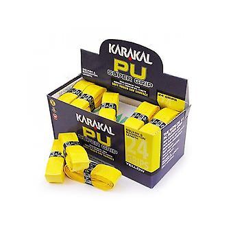 Karakal PU Super Grip Badminton Tennis Squash Raquette De Remplacement Grip x 3-Jaune