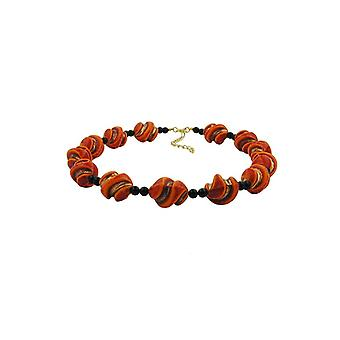 Necklace Screw Beads Red/orange/gold-coloured 45989 45989 45989