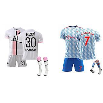 Cristiano Ronaldo Manchester United & Messi Psg Jersey (voksen dress)