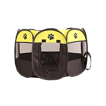 Mimigo Portable Pet Playpen With Storage Bag Dog Playpen Foldable Pet Exercise Pen Tents Dog Kennel House Playground For Puppy Dog Cat Bunny Indoor Ou