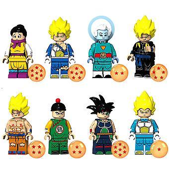 8pcs Anime Dragon Ball Z Bausteine Guko Vegeta Turles Grand Priest Chichi Action Figuren Ziegel Spielzeug Spielzeug Geschenke Kinder Spielzeug