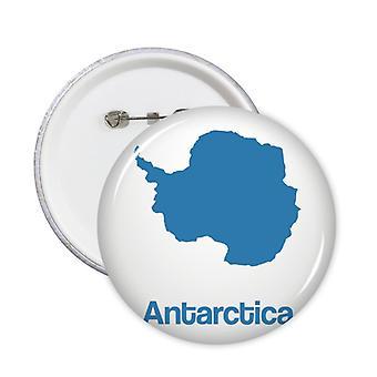 כחול אנטארקטיקה מפה תבנית תג כפתור 5pcs