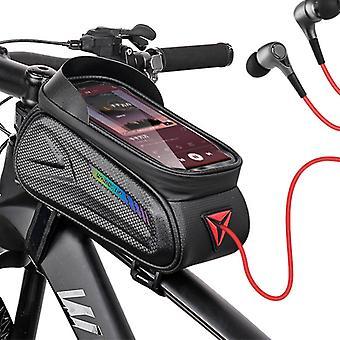 """sykkel ramme bag vanntett sykling sykkel styret telefonholder berøringsskjerm sol visir for smarttelefon under 7 """""""