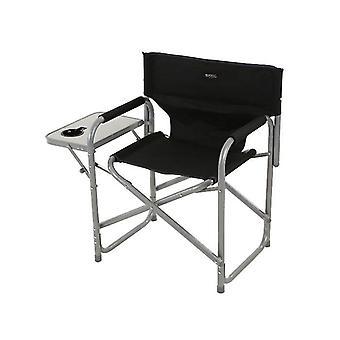 Regatta Sedile Directors Steel Frame Folding Camping Garden Chair et table d'appoint