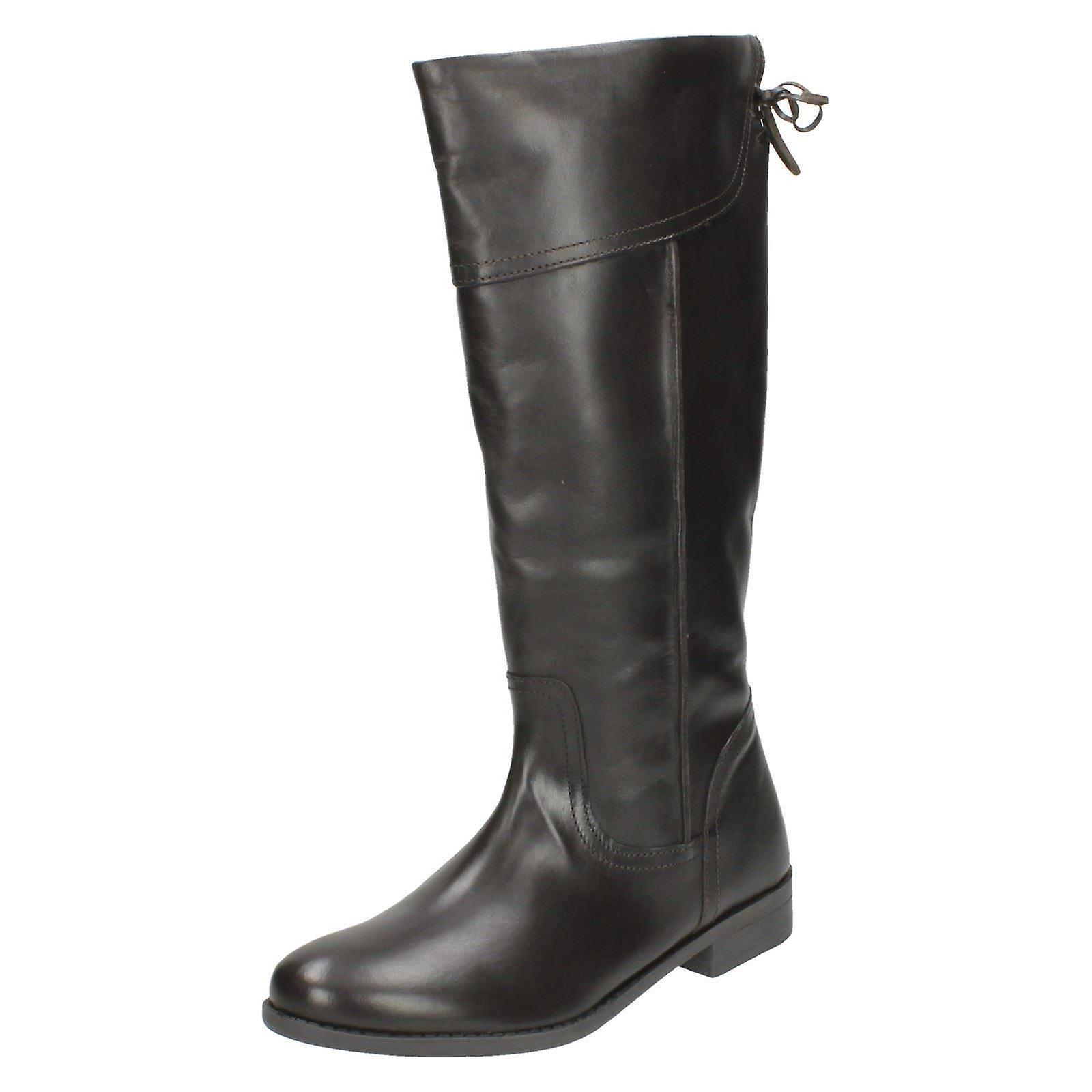 Ladies Spot On Knee High Boots LBOOT/PT01E Uo2X1