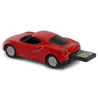 Officiella Alfa Romeo 4C Sports Car USB minne 16Gb - röd