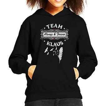 Vampire Diaries originale Team Klaus Kind Sweatshirt mit Kapuze