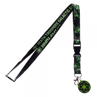 Star Wars Star Wars Death Galactic Troopers Empire Lanyard With Charm And ID Sleeve