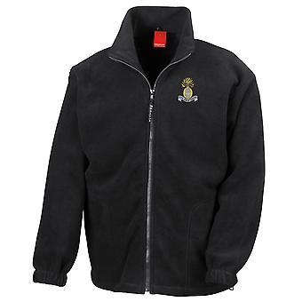 Royal Dubline Fusiliers brodeerattu Logo - Britannian armeijan koko Zip Fleece