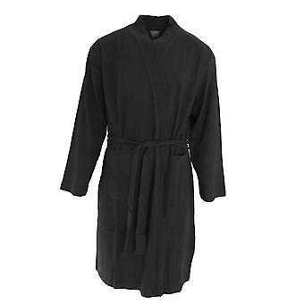 Foxbury Mens Waffle Texture Cotton Dressing Gown/Robe