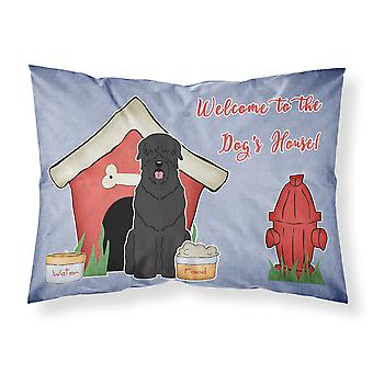 Dog House Collection Black Russian Terrier Fabric Standard Pillowcase