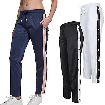 Urban classics dames - bouton piste pantalon Pantalon rétro