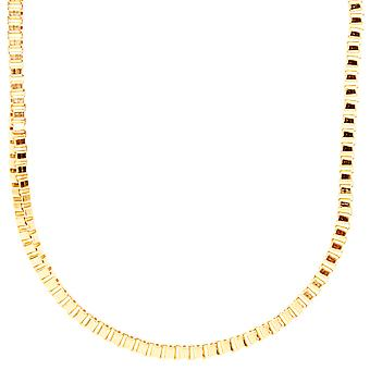 Iced Out Bling Fashion SLIM Box Kette - 3mm gold 60cm