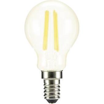 Sygonix LED (monochrome) EEC A++ (A++ - E) E14 Droplet 4 W = 37 W Warm white (Ø x L) 45 mm x 84 mm Filament 1 pc(s)