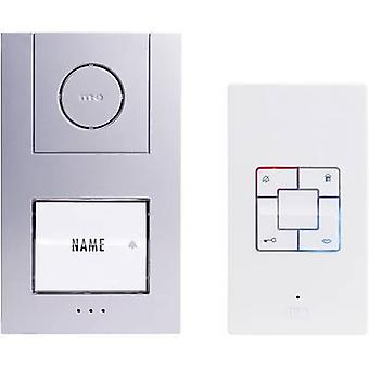 m-e modern-electronics Vistus AD 4010 Door intercom Corded Complete kit Detached Silver, White