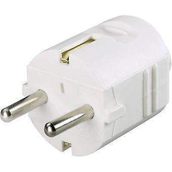 GAO 627607 sikkerhed plug plast 230 V hvid IP20