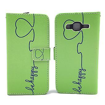 Handyhülle Tasche für Handy Samsung Galaxy J5 Be Happy Grün