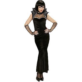 Kostüme Frauen Spiderella Halloween Kleid mit Handschuhen