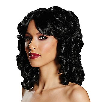 Baroque wig Black Womens wig Centre parting accessory Carnival