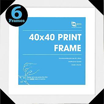 GB Posters 6 White Art Print Poster Frames 40x40cm Bundle