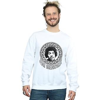 Jimi Hendrix Men's Pattern Circle Sweatshirt