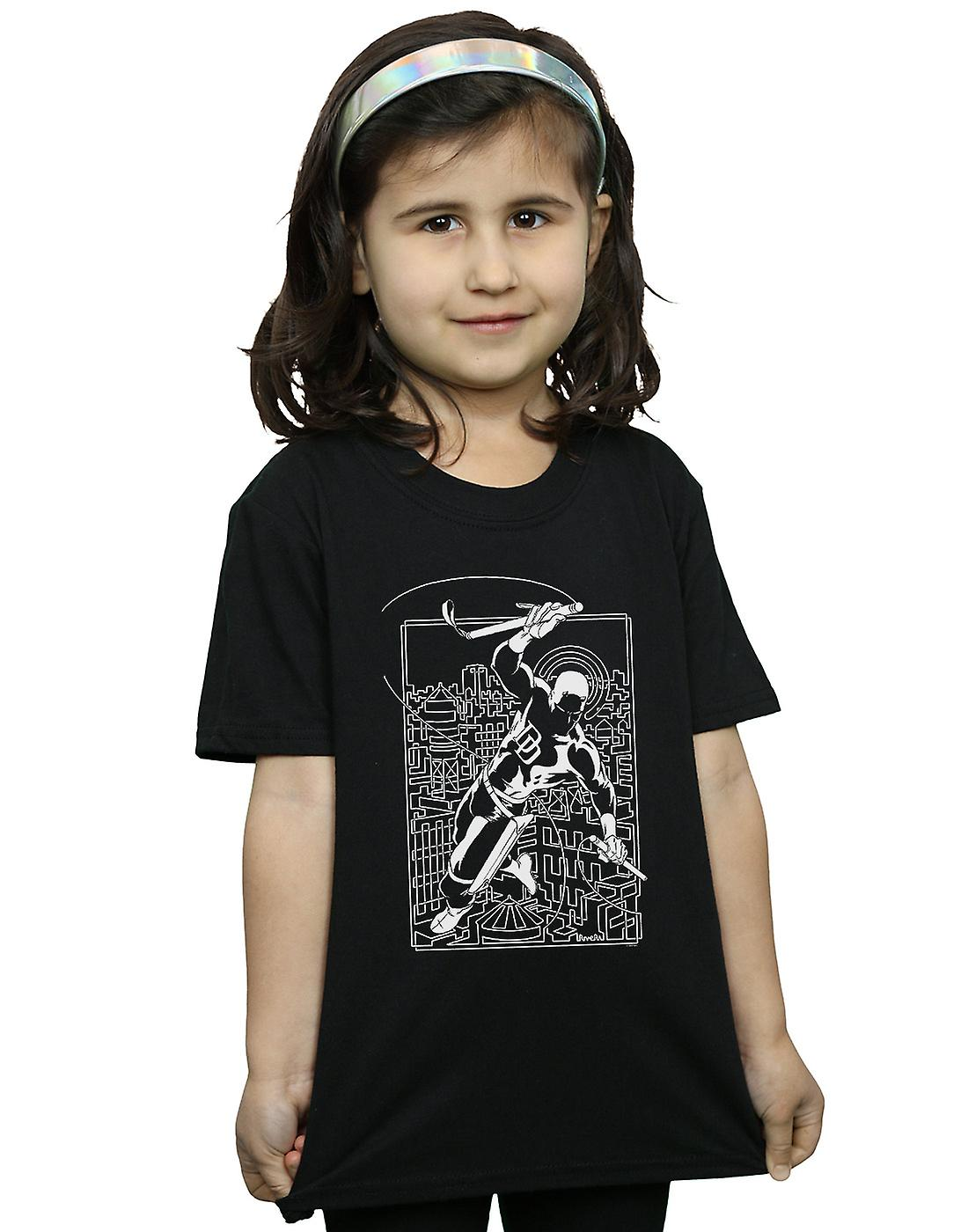 Marvel Girls Daredevil Silhouette T-Shirt